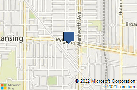Bing Map of 18241 West St Lansing, IL 60438
