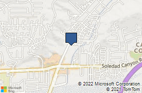 Bing Map of 18302 Sierra Hwy Ste 101 Canyon Country, CA 91351