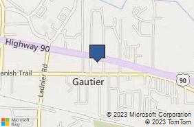 Bing Map of 1833 Highway 90 Gautier, MS 39553