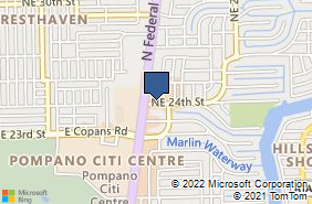 Bing Map of 1835 Ne 24th St Lighthouse Point, FL 33064