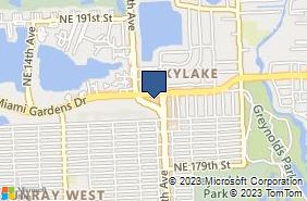 Bing Map of 18383 Ne 18th Dr # 145 North Miami Beach, FL 33179