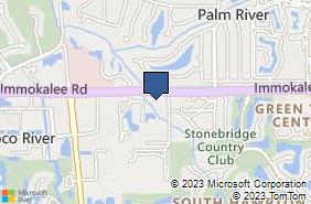 Bing Map of 1855 Veterans Park Dr Ste 301 Naples, FL 34109