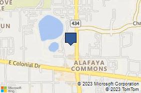 Bing Map of 1858 N Alafaya Trl Ste 100 Orlando, FL 32826