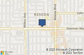 Bing Map of 18631 Sherman Way Ste C Reseda, CA 91335