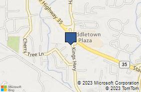 Bing Map of 188 Kings Hwy Middletown, NJ 07748