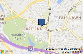 Bing Map of 1880 E Main St Waterbury, CT 06705