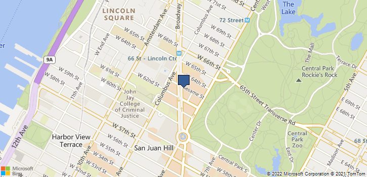 1886 Broadway New York, NY, 10023 Map