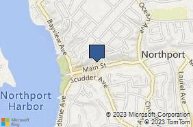 Bing Map of 189 Main St Northport, NY 11768