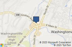 Bing Map of 19 Goshen Ave Washingtonville, NY 10992