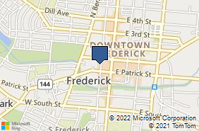 Bing Map of 19 N Court St Ste 202 Frederick, MD 21701