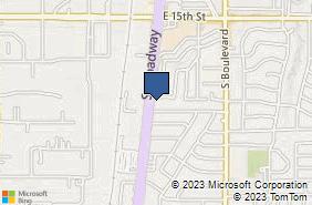 Bing Map of 1900 S Broadway Edmond, OK 73013