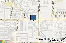 Bing Map of 1901 E University Dr Ste 301 Mesa, AZ 85203