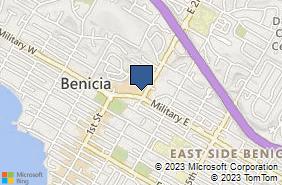 Bing Map of 191 Military E Ste B Benicia, CA 94510