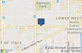Bing Map of 1916 W Cermak Rd Chicago, IL 60608