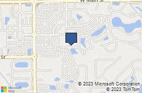 Bing Map of 1924 Rhettsbury St Carmel, IN 46032