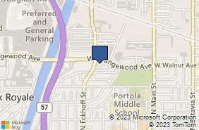 Bing Map of 1940 W Orangewood Ave Ste 207 Orange, CA 92868
