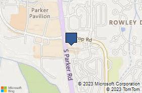 Bing Map of 19501 E Parker Square Dr Parker, CO 80134