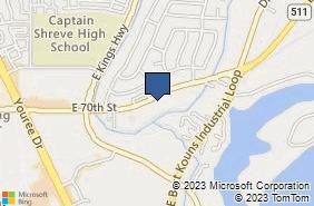 Bing Map of 1953 E 70th St Ste 5 Shreveport, LA 71105