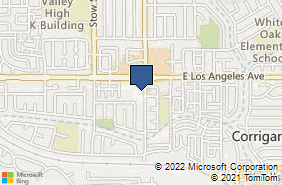 Bing Map of 1965 Yosemite Ave Ste 210 Simi Valley, CA 93063