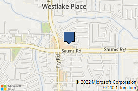 Bing Map of 19704 Saums Rd Houston, TX 77084