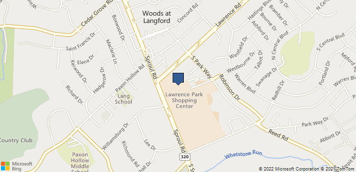1991 Sproul Rd Broomall, PA, 19008 Map