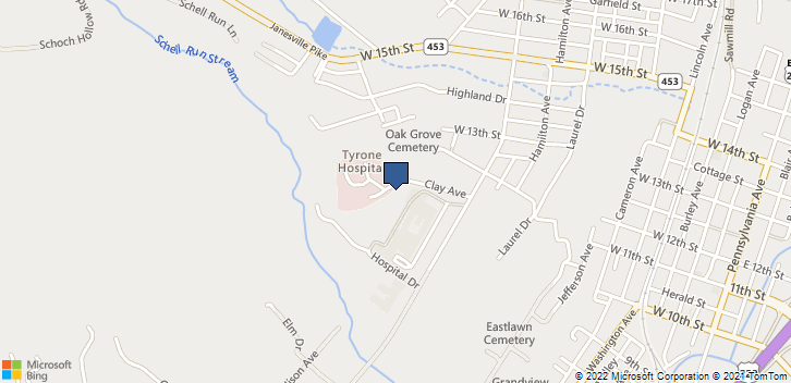 2 Hospital Dr Tyrone, PA, 16686 Map