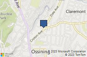 Bing Map of 2 Todd Pl Ossining, NY 10562