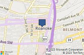 Bing Map of 20 Church Ave Se Roanoke, VA 24011