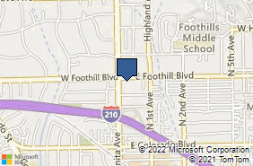 Bing Map of 20 E Foothill Blvd Ste 118 Arcadia, CA 91006