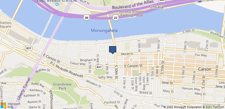 20 S 10th St Pittsburgh, PA, 15203 Map