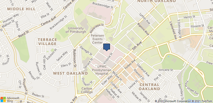 200 Lothrop St Pittsburgh, PA, 15213 Map