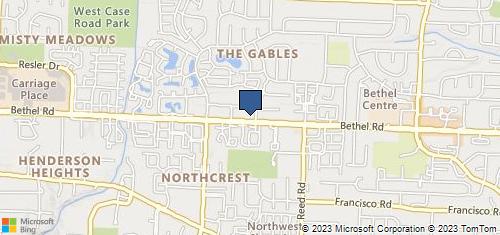 Bing Map of 2000 Bethel Rd Ste B Columbus, OH 43220