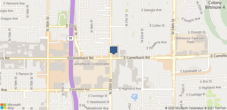 2002 E Camelback Road, Suite 101 Phoenix, AZ, 85016 Map