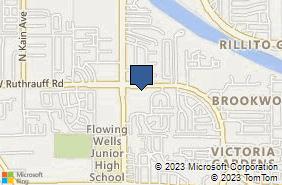 Bing Map of 2005 W Ruthrauff Rd Ste 157 Tucson, AZ 85705