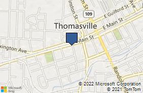 Bing Map of 201 W Main St Thomasville, NC 27360