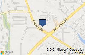 Bing Map of 2010 Gilmer Rd Ste 108 Longview, TX 75604