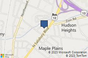Bing Map of 2010 N Salisbury Blvd Salisbury, MD 21801