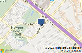 Bing Map of 20151 Sw Birch St Ste 220 Newport Beach, CA 92660