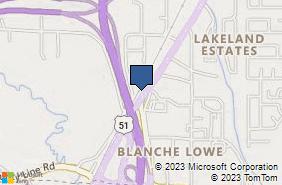 Bing Map of 201b Highway 51 Ridgeland, MS 39157
