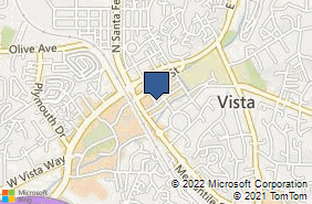 Bing Map of 202 E Broadway Vista, CA 92084