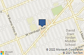 Bing Map of 202 N Orchard Dr Burbank, CA 91506