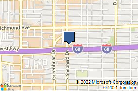 Bing Map of 2020 Southwest Fwy Ste 205 Houston, TX 77098