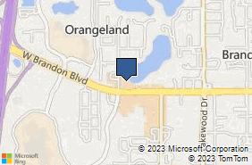 Bing Map of 2020 W Brandon Blvd Ste 115 Brandon, FL 33511