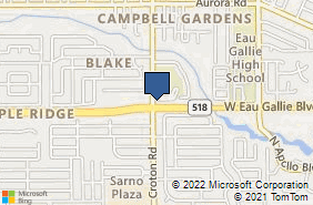 Bing Map of 2020 W Eau Gallie Blvd Ste 102 Melbourne, FL 32935