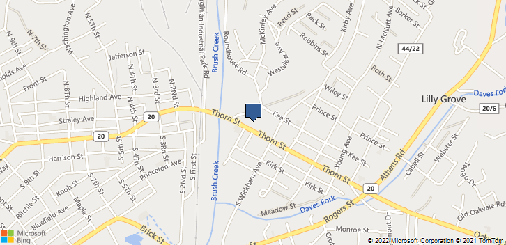 203 Thorn St  Princeton, WV, 24740 Map
