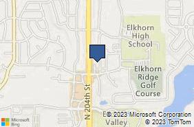 Bing Map of 20330 Veterans Dr Ste 5 Elkhorn, NE 68022