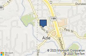 Bing Map of 204 W Main St Azle, TX 76020