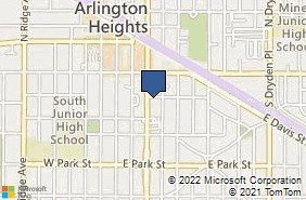 Bing Map of 205 S Arlington Heights Rd Arlington Heights, IL 60005