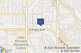 Bing Map of 2055 S Oneida St Ste 286 Denver, CO 80224