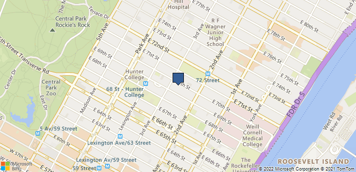 206 E 70TH St Ste 1A New York, NY, 10021 Map